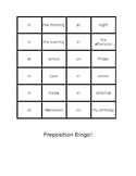 Preposition Memory Game!