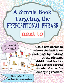 "Preposition ""NEXT TO"" Book"