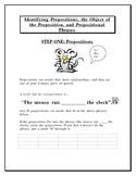 Preposition, Object of Prepositions, and Prepositional Phrases