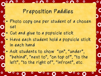 Preposition Paddles