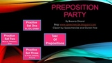 Preposition Party- Interactive No Print Activity