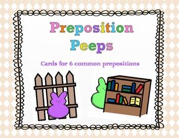 Easter:  Preposition Peeps