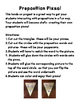 Preposition Pizza Activity/ Craftivity
