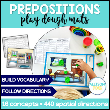 Prepositions Play Dough Mats NO PREP