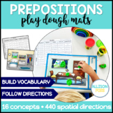 Prepositions Play Dough Mats NO PREP Speech Therapy