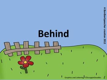 """Preposition Playground - FREEBIE!  """"Behind"""""""