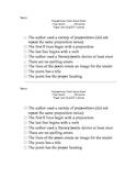 Preposition Poem Rubric