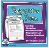 Preposition Poem Worksheet
