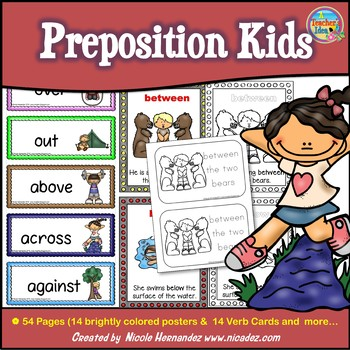 Prepositions - Kid-friendly Illustrated Classroom Posters