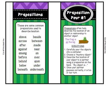 Preposition Pour - A Center Activity
