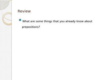 Preposition PowerPoint- EDITABLE