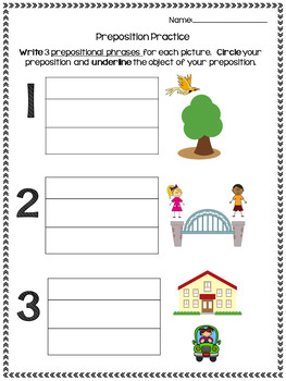 Preposition Practice Set
