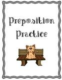 Preposition Practice Book