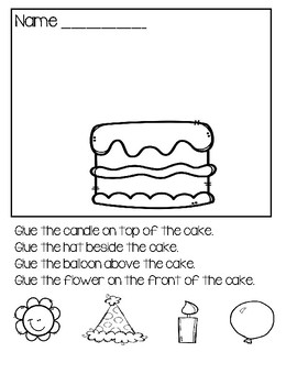 Preposition Practice - Cut And Paste Worksheets