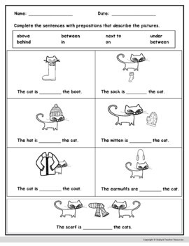 Preposition Activities ESL EFL Special Education