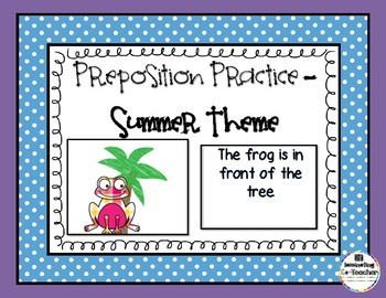 Preposition Practice - Summer Edition