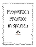 Preposition Practice and Writing Activity in Spanish