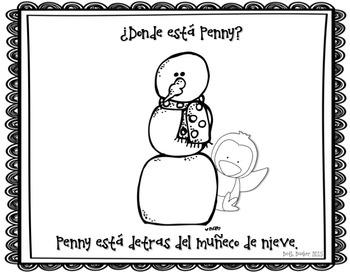 Spanish Preposition Practice - ¿Donde está Penny?