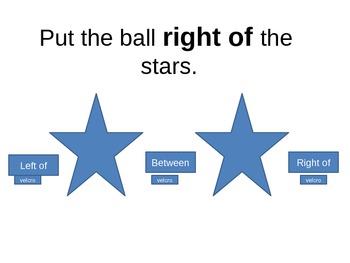 Preposition Practice - over, above, on, below, under, betw