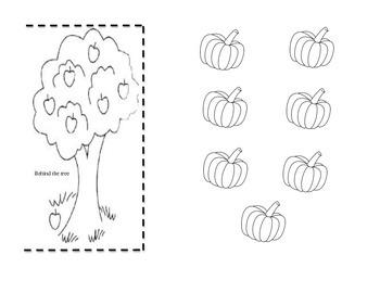 Preposition Pumpkin Activity