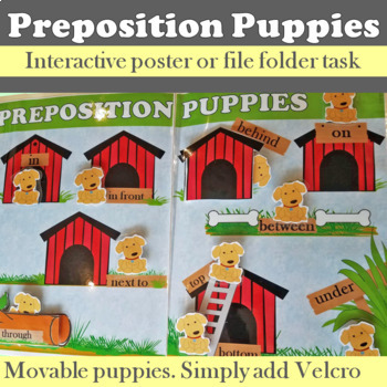 Preposition Puppies Make & Take Poster