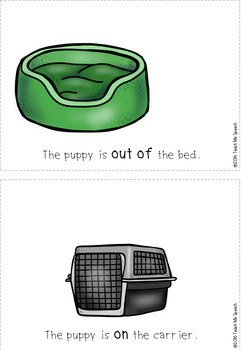 Preposition Puppy: interactive book and printouts