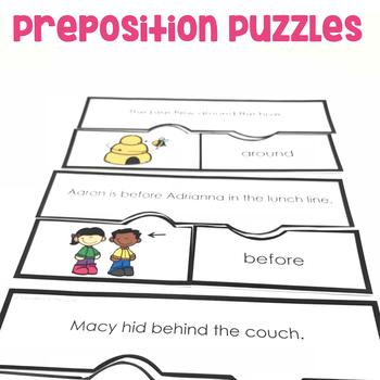 Preposition Puzzles | Prepositions Activities