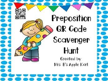 Preposition QR Code Scavenger Hunt