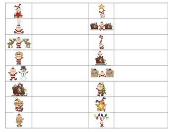 Preposition Santa Worksheet for Miss V's Set