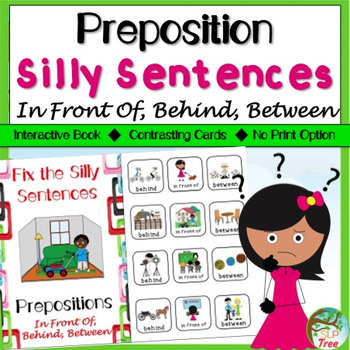 Preposition Silly Sentences In Front Of Behind Between