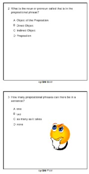 Preposition Smartboard Clicker Quiz