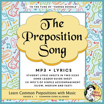 Preposition Song MP3 & Lyrics - Learn Grammar Parts of Speech with Music
