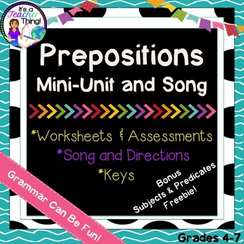 Prepositions Mini-Unit