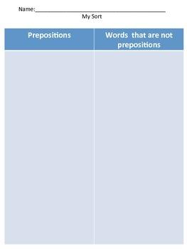 Preposition Sort