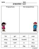 Preposition Sort Activity {Common Core Aligned}