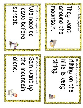 Preposition Study Guide and Scoot Game