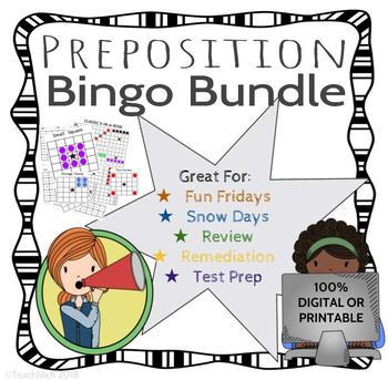 Preposition / Subordinating Conjunction BINGO - DIGITAL/PRINT BUNDLE