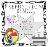 SALE FREEBIE Preposition / Subordinating Conjunction Bingo - PRINT-AND-GO