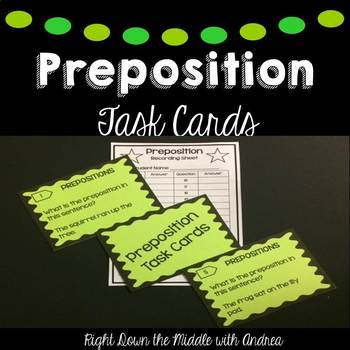 Preposition Task Cards {Common Core Aligned}