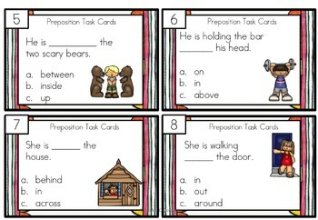 Preposition Task Cards Differentiated