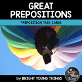 Preposition Task Cards: Great Prepositions