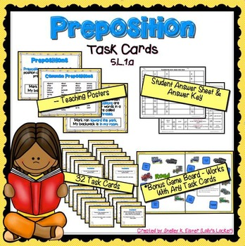 Preposition Task Cards L.5.1.a