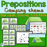 Preposition Task Cards using a camping theme