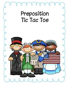 Preposition Tic Tac Toe
