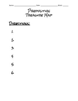 Preposition Treasure Map