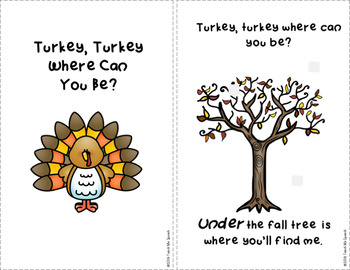 Preposition Turkey: Fall themed interactive book and take-home book