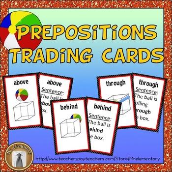 Preposition Vocabulary Trading Cards