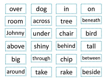 Preposition Word Hunt