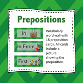 Preposition Wordwall: Prepositions - Flash Cards (Green)
