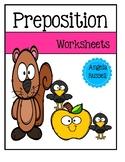 Preposition Worksheets Set 1